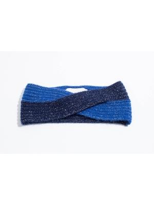 Bandeau brillant en color block dans des tons bleus